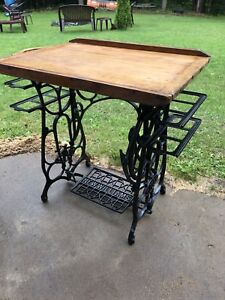 ANTIQUE SEWING TREADLE TABLE