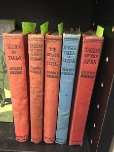 Edgar Rice Burroughs Assorted Tarzan Novels