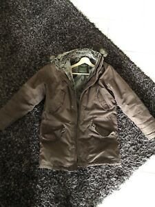 Eddie Bauer Goose Down Brown Parka - Men's Small