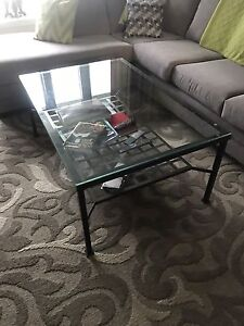 3 pc glass coffee table set
