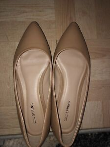 Nude call  it spring   flats (size 7)