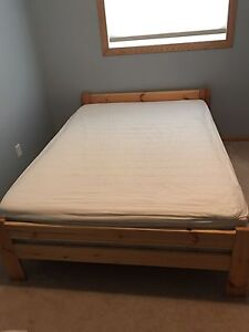 Free Double Bed w/Mattress and Memory Foam