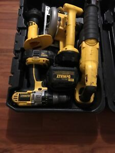 18v dewalt power tool kit with case