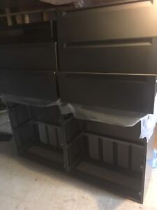 2 - 3 drawer legal filling cabinets attached