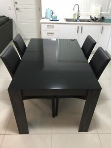 7 piece dining room suite - table and 6 chairs