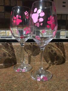 Paw Print Wine Glasses and Treat Jars