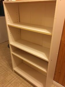 White adjustable book shelf