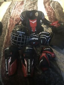 Kids hockey equipment