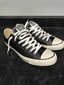 Converse Black leather