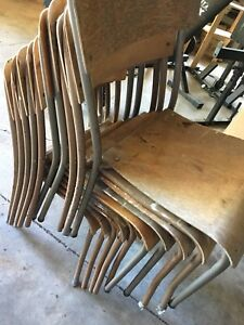 Ten Stackable Chairs