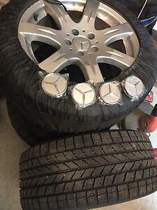 4 pneus d'hivers + 4 mags Mercedes