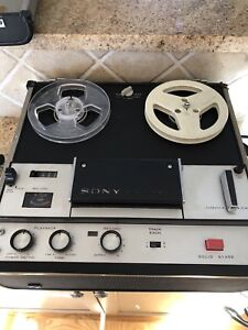Sony TC105 portable reel to reel audio recorder