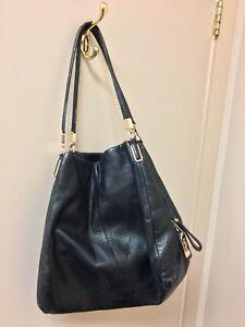 Used black leather Coach purse / handbag. Good condition.