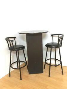 High bar table for two
