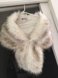 Wedding shrug/bolero in faux fox fur