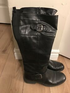 Bare traps wide calf ladies riding boots
