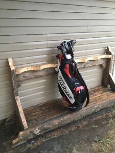 GOLF CLUB BAG RACK fits 6 sets of clubs. 8 ft wide