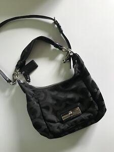 Almost new black coach purse