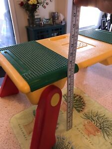 LEGO 1994 VINTAGE Lap Tray Table Building & Storage Bins