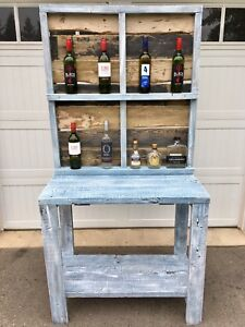 Country Chic Barn Wood Bar / Breakfast Nook  / Console Table