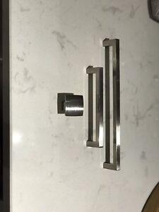 Modern brushed nickel Cabinet pulls