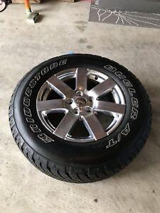 5 Bridgestone P255/70 R18 TIRES &RIMS