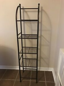 Metal shelf storage rack like new