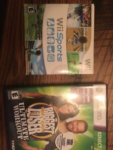 1 x Wii game & 1x Xbox 360 game