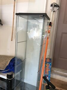 Glass cabinet with shelves