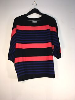 Navy blue and pink sweater