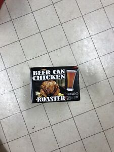 Brand new beer can chicken