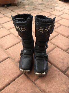 Fox Racing Motorcross Boots kids size 6