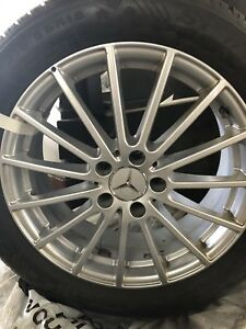 Mercedes GLC 215-55-18 Dunlop winter tires and wheels for sale