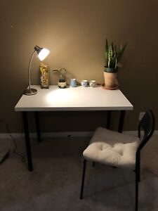 Office or study desk table. Can come as set with lamp and chair