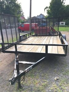 6x12 utility /ATV trailer with side and rear ramps