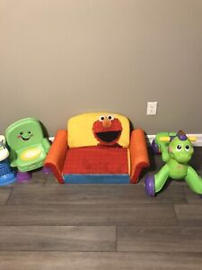 Lot of baby/toddler toys - walker, couch, chair