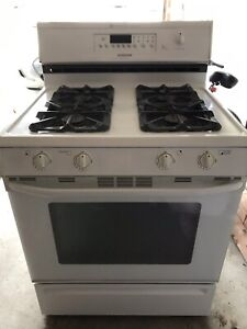 Used, white gas stove and dishwasher - both work!