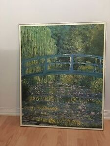Monet - Bridge over a Pond of Water Lilies  Painting