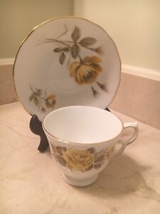 Cup and saucer - Bone china - Made in England- Queen Anne
