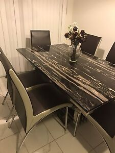 Marble Dining Table & TV  Bench
