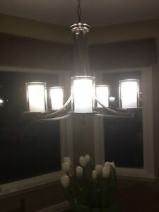 DVI Brushed Nickel Finish 5 Light Chandelier