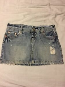 Jean shorts and skirts