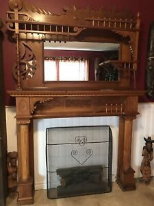 fireplace mantel $600