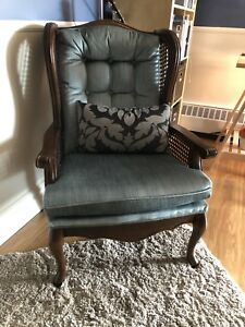 Blue Wingback Armchair