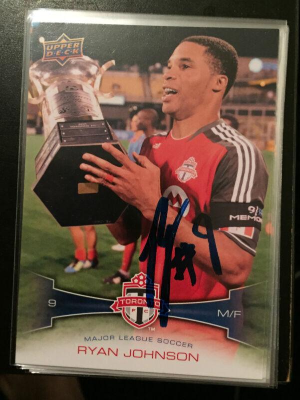 Toronto FC Ryan Johnson Signed Autographed 2012 UD Upper Deck MLS Card