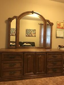 Larger dresser with mirror