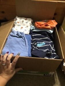 2 boxes of boys clothing