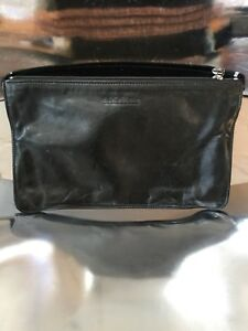 Rugby North America Large Black Leather Pouch