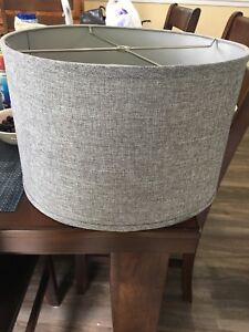 Large grey lamp shade obo