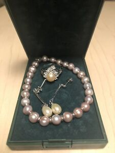 Freshwater pearl and silver jewelry